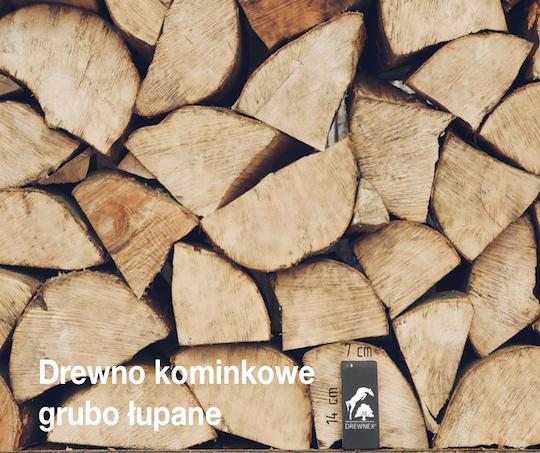 Drewno kominkowe grubo łupane